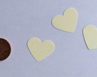 100 cream/ivory hearts