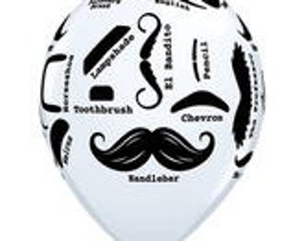 10 - Mustache Styles Latex balloons birthday  party Wedding Reception Bridal Shower favors decorations