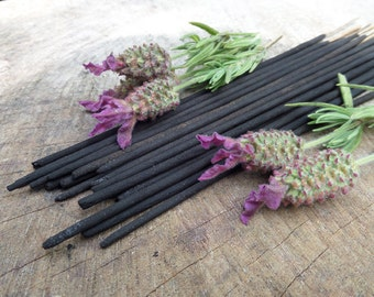 French Lavender Incense Sticks    Absolute Grade   100% Natural Incense   Traditional Indian Incense   Hand Rolled With Essential Oils