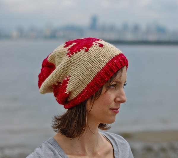 Slouchy Toque Knitting Pattern : The Canadian Slouchy Toque hat knitting pattern
