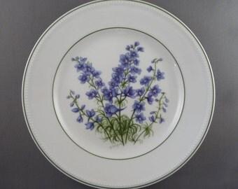 Kaiser porcelain teaplate larkspur design, West Germany