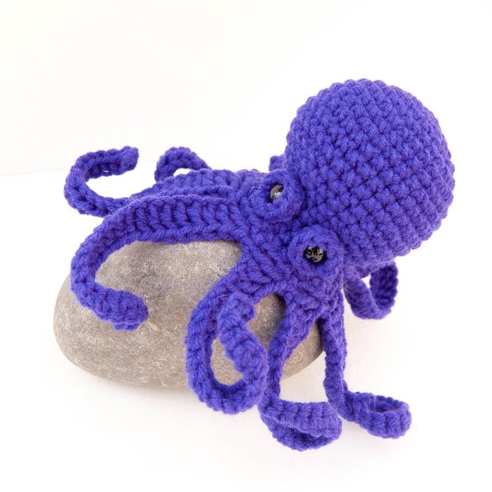 Octopus Amigurumi Plush : Amigurumi Baby Kraken Plush Octopus Purple by TheSpidersAttic