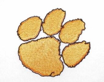 Tiger Paw Print Machine Embroidery Design Pattern 2 Colors PES, dst, pcs, hus, vip, jef, exp Formats