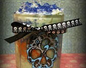 "10 oz.ODOR EATER Natural Soy ""Zombie Skull Rotten Cookie' Glitter Grubby Candle Unique Awesome Glitzy Holiday"