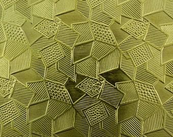 """Pattern Brass Sheet 2.5"""" wide 24ga (Choose length) - BSP150"""