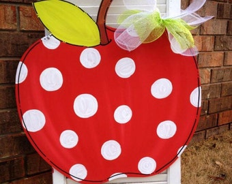 Apple Door Hanger, Teacher Door Hanger, Classroom Door Hanger, Teacher Appreciation