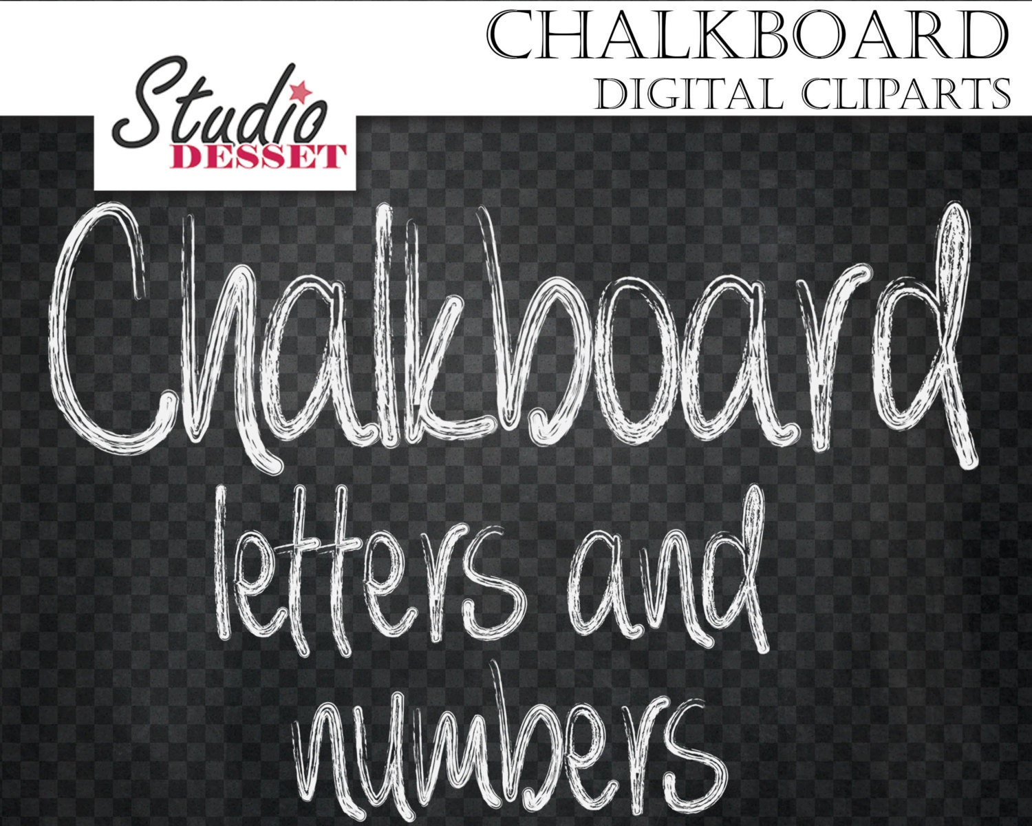 Chalkboard alphabet cliparts chalk letters and numbers abc for Blackboard with white removable letters