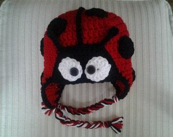 Crochet Ladybug Hat / Animal Hat