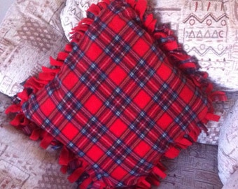 Tartan Fleece Ruffle Cushion