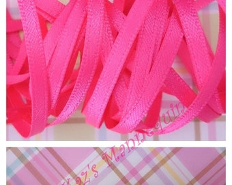 Thin Hot Pink Satin ribbon!