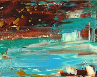 Paradise Cove Fine Art Print, Abstract Art, Modern Art, Nautical Art, Los Angeles Art, California Art, Beach Art, Knife Painting, Malibu