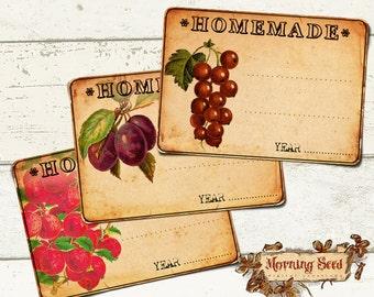 Homemade jam labels | Etsy