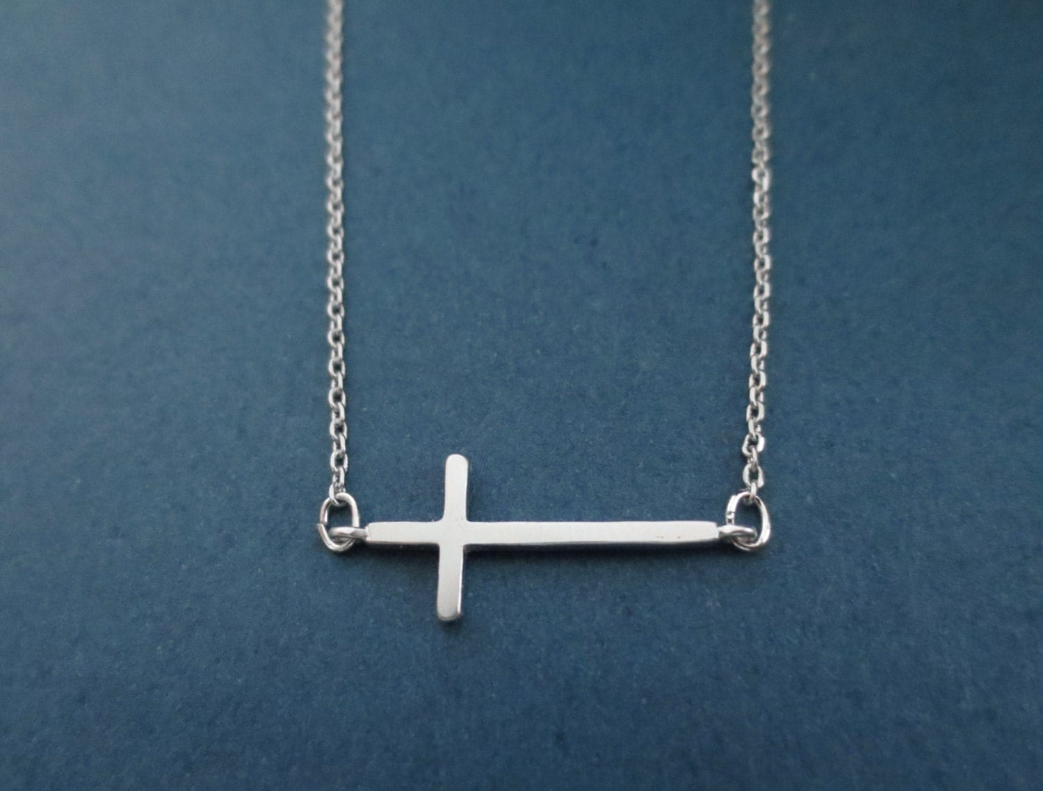 simple gold silver cross basic necklace birthday best by