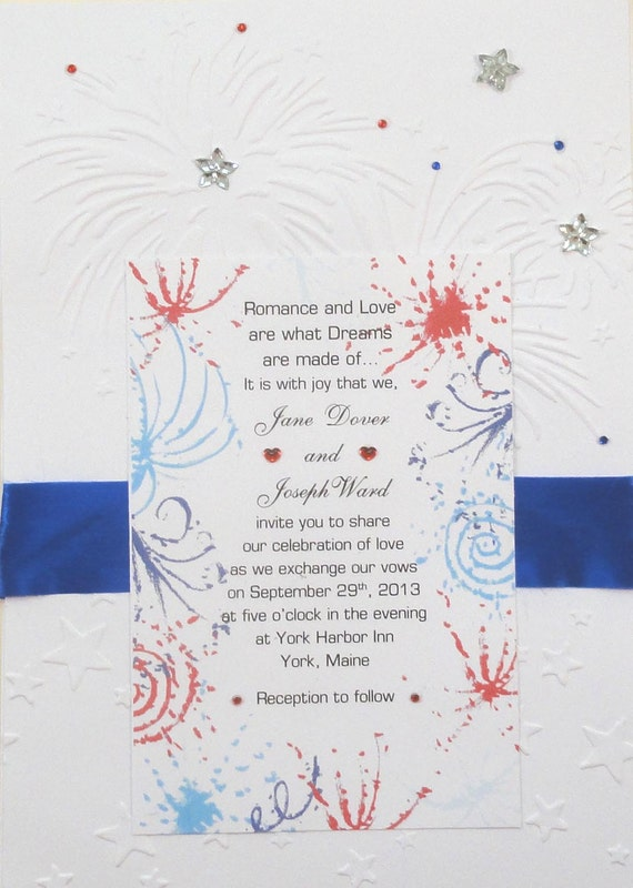 Patriotic Military 4th of July Theme Invitations