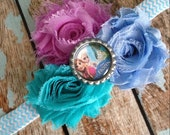Disneys Frozen Shabby flower headband hair bow