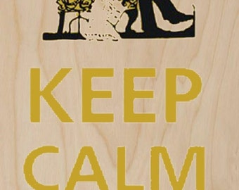 Keep Calm and Relax - Plywood Wood Print Poster Wall Art WP - DF - 0261