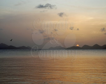 Sunset in British Virgin Islands -- Choose your Size