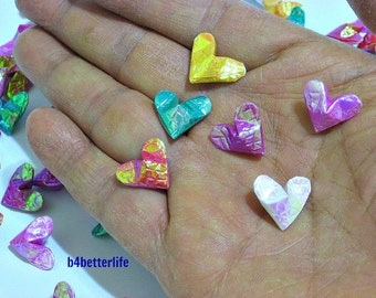 100pcs Assorted Colors Mini Size 3D Origami Hearts LOVE. (CY paper series).