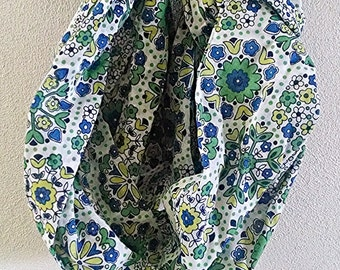 Infinity Scarf, Circle Scarf, Loop Scarf, Eternity Scarf, Tube Scarf, Scarf, Green, Blue, Yellow, Gus and Rosie