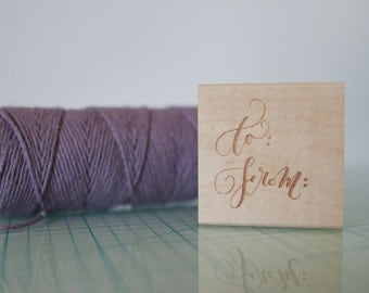 Calligraphy To/From Rubber Stamp