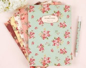 10 Colors Floral Ruled Notebook / 64 pages / 10994254