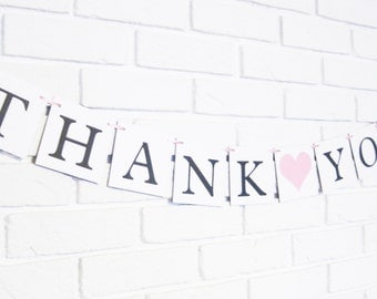 Thank you banner, wedding banners, thank you photos, wedding photo banner, photo prop banner, wedding thank you, thank you sign, thanks sign