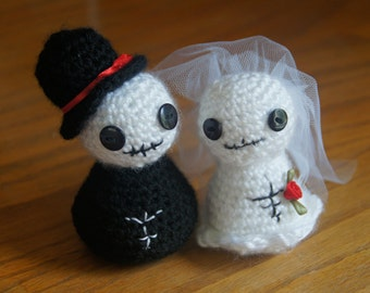 Crocheted Skeleton Bride and Groom