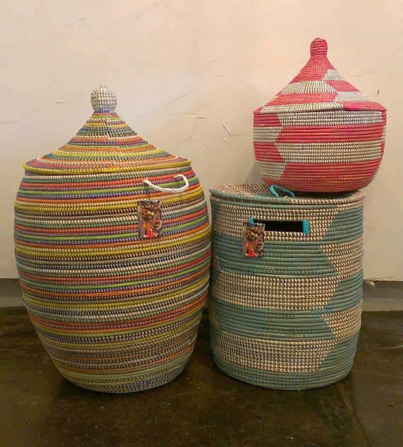 African Woven Baskets: Items Similar To Fair Trade, African Hand Woven Storage
