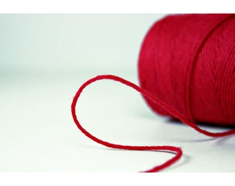 10 yards/ 9.144 m Solid Red Divine Twine, Bakers Twine,