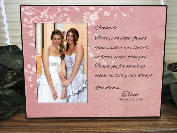 Wedding Gift For Sister Of The Bride : Sisters wedding gift, Maid of Honor gift, Matron of Honor gift ...