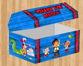 Jake and the Never Land Pirates Treasure Chest Favor Box