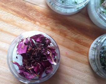 All Natural Herbal Bath Salt {HYDRATING}~ Rose & Pomegranate Tea