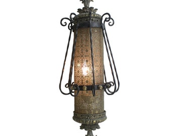 Vintage Victorian Style Ornate Hanging Lamp Light Fixture