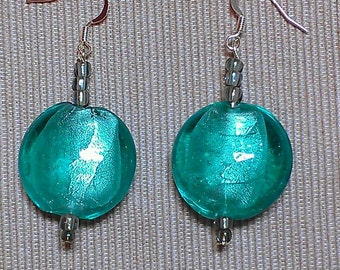 concord earrings: lampwork and glass beads