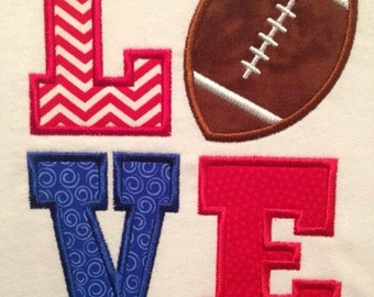 Love football appliqué