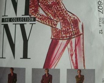 Misses Lined Jacket, Skirt, Pants Size 12 McCalls Pattern 5607 NY NY The Collection UNCUT Pattern 1991