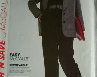 Misses jacket and Pants Sizes 10-12-14 Stitch 'N Save Pattern 3869 by McCalls - EASY McCalls Petite-Able Pattern UNCUT 1988