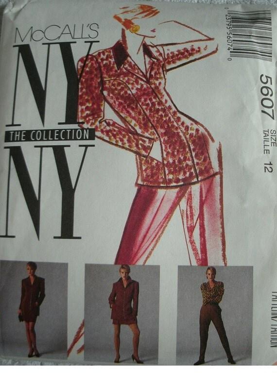 misses lined jacket skirt size 12 mccalls pattern 5607