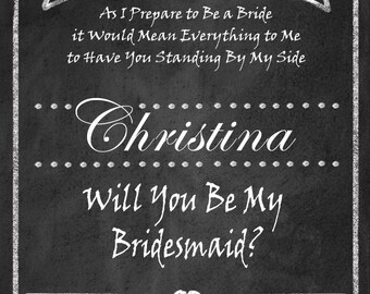 Personalized Will You Be My Bridesmaid? diy printable wine label  - DIY - Rustic Collection