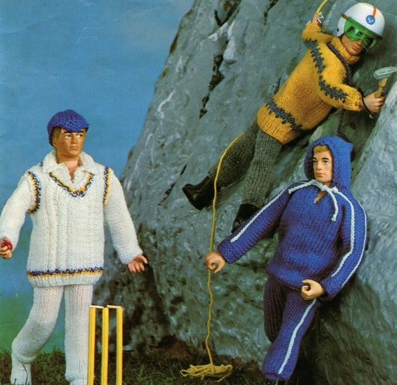 ACTION MAN OUTFITS Knitting Pattern 3 by KenyonDownloadBooks