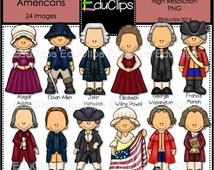 Revolutionary Americans Clip Art Bundle