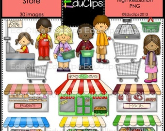 The Grocery Store Clip Art Bundle