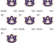 Auburn University AU Stitched Embroidery Designs Instant Download