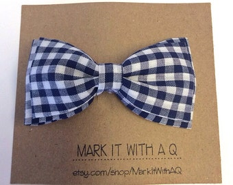 Items Similar To Boys Blue Checked Hat Navy Gingham