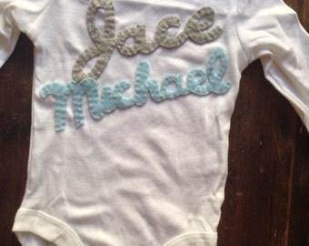 Custom onesie for baby Jace