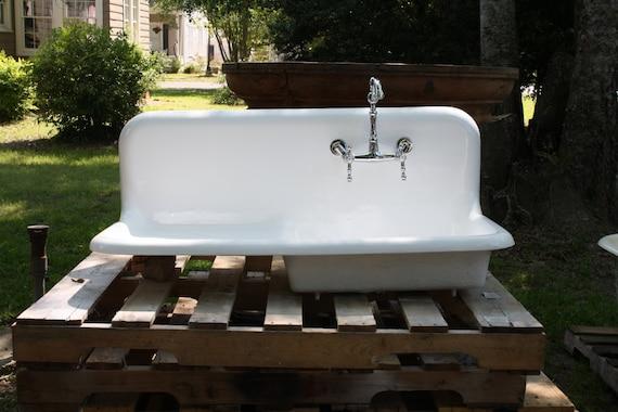 42 Farmhouse Sink : 1941 Kohler Roll Rim Drain Board Farmhouse Sink, (42 X 20) Refinished ...