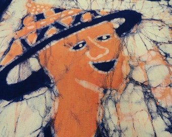 AFRICAN BATIK, 28 x 40 ,Vintage