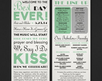 Printable Wedding Program - Best Day Ever - The Biko Collection