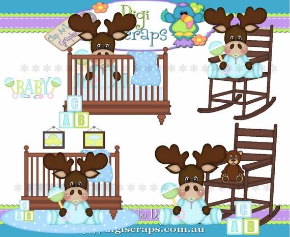 Baby Boy Moose Clipart Little Baby Boy Moose ...