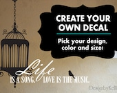 Custom vinyl decal-Personalized Decal-Custom Decal-Customized decal-Make your own decal-Create your own decal-Design your own decal-Graphic